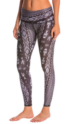 Teeki Diamond Tribe Charcoal Goddess Leggings