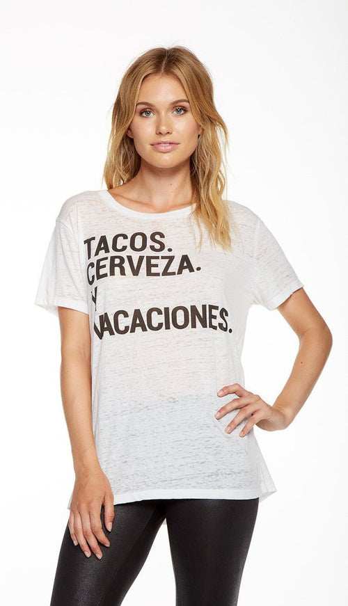 Chaser Tacos y Cerveza Tee Shirt