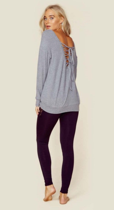 Blue Life Tied Up Sweatshirt Gray