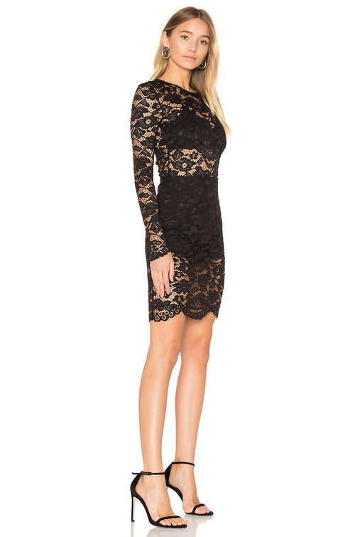 Lovers and Friends Dream Girl Black Lace Dress