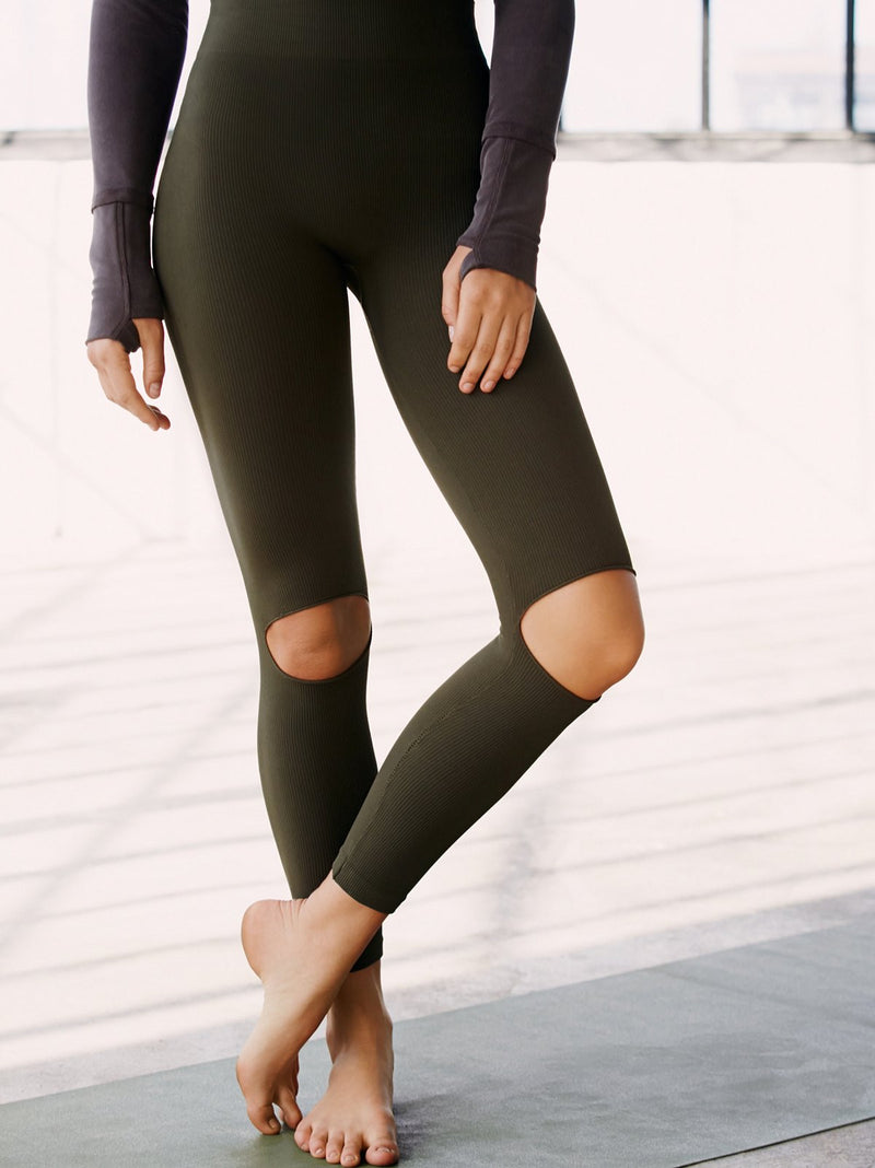 Free People  Ryanne Slit Knee Performance Leggings