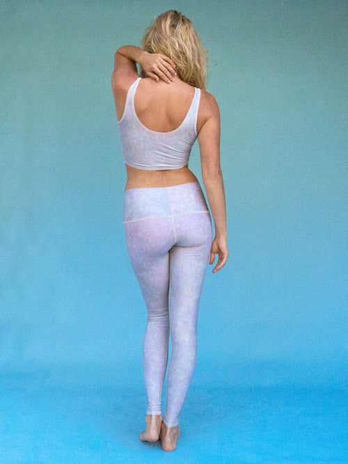 Teeki White Snake Opal Hot Pant Legging