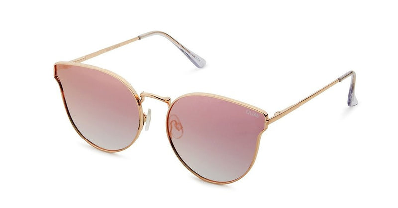 Quay All My Love Rose Pink Mirror Sunglasses