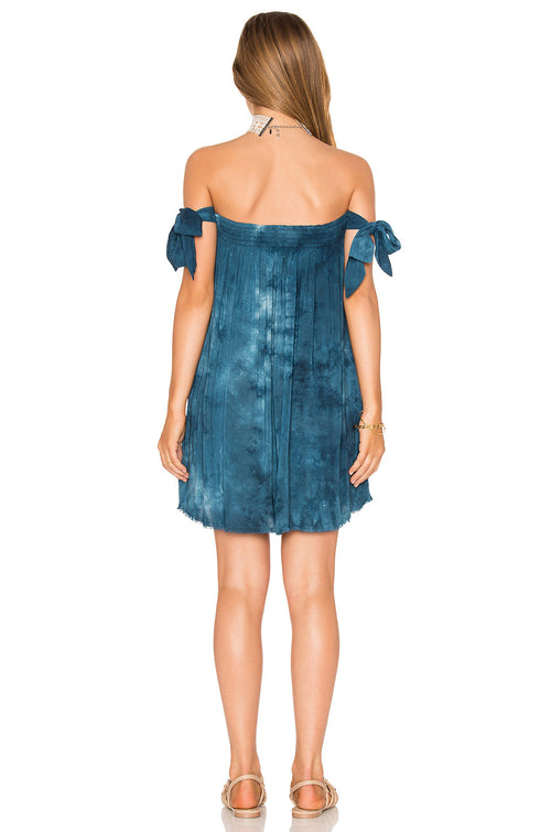Blue Life Off Shoulder Venus Tie Dress