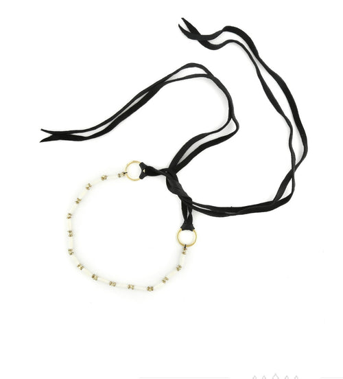 Vanessa Mooney The Dallas Choker White