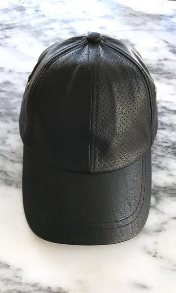Sweat Active Vegan Leather Baseball Cap Black