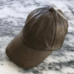 Sweat Active Vegan Leather Baseball Cap Army Green