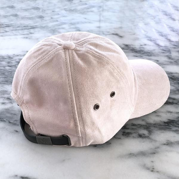 Sweat Active 6 Panel Ultra Suede Baseball Cap Light Pink