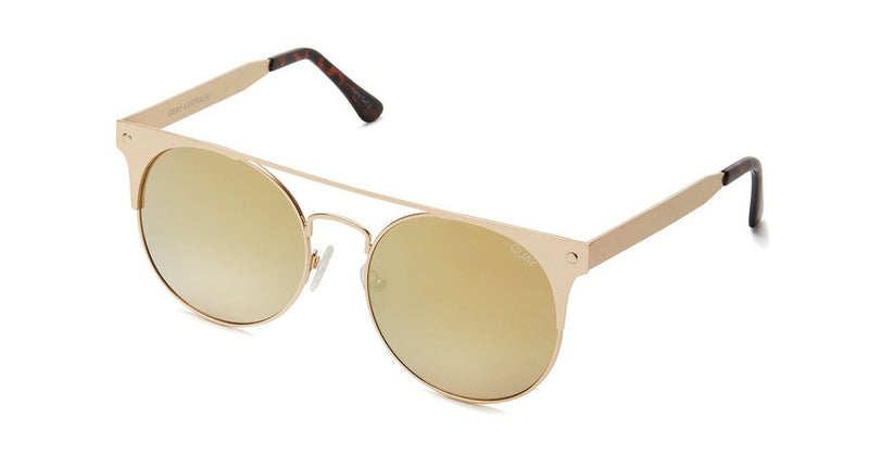 Quay The In Crowd Gold Sunglasses