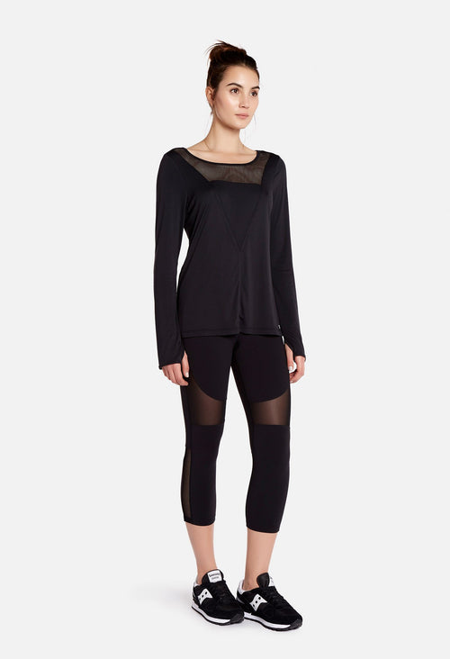 Splits59 Lake Performance Long Sleeve Tee Black