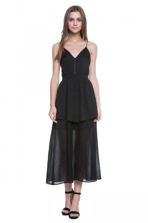 Endless Rose Strappy Maxi Dress Black