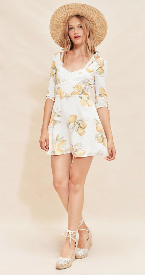 For Love and Lemons Limonada Mini Dress