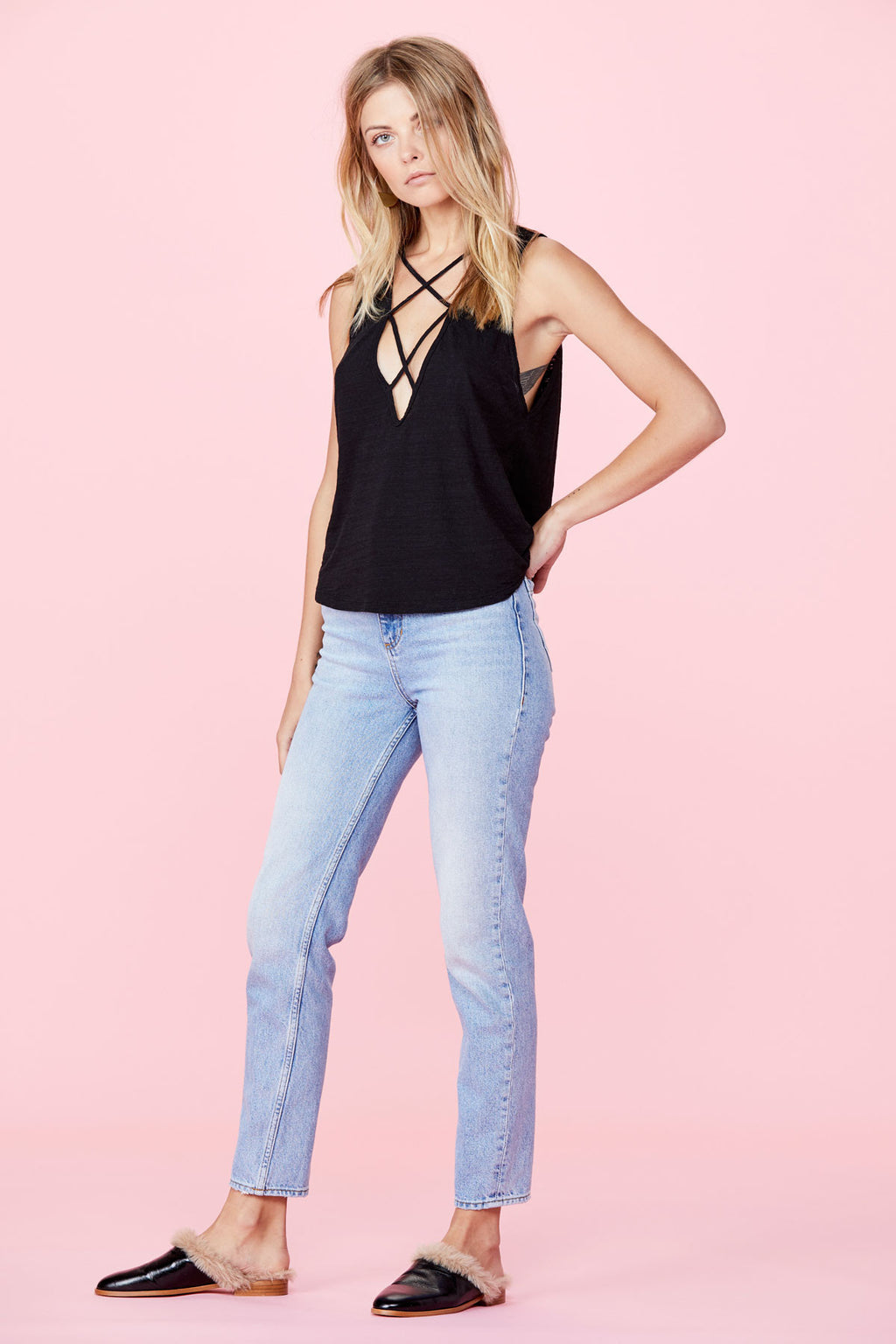 LNA Double Cross Tank Black