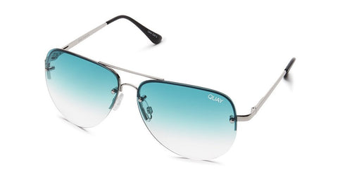 Quay Muse Fade Silver/Blue Sunglasses