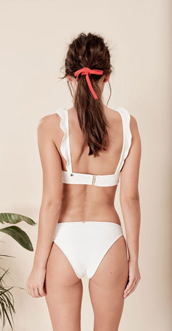 For Love & Lemons La Playa Swim Bottom White