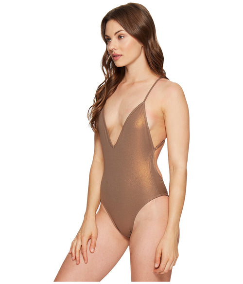 Blue Life Plunge One Piece Swim Coppertone