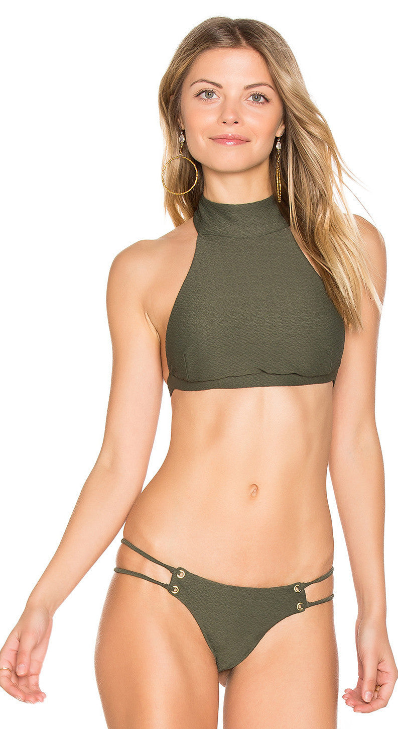 Blue Life Roped Up High Neck Swim Top