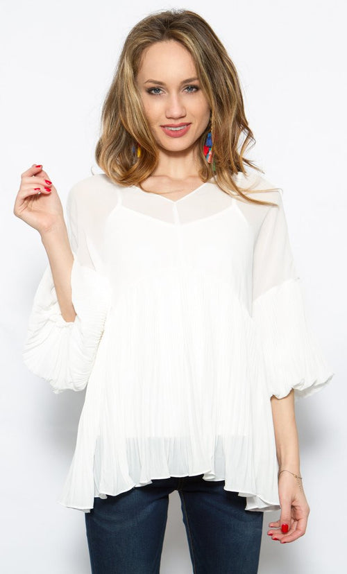 Endless Rose Pleated Chiffon Top