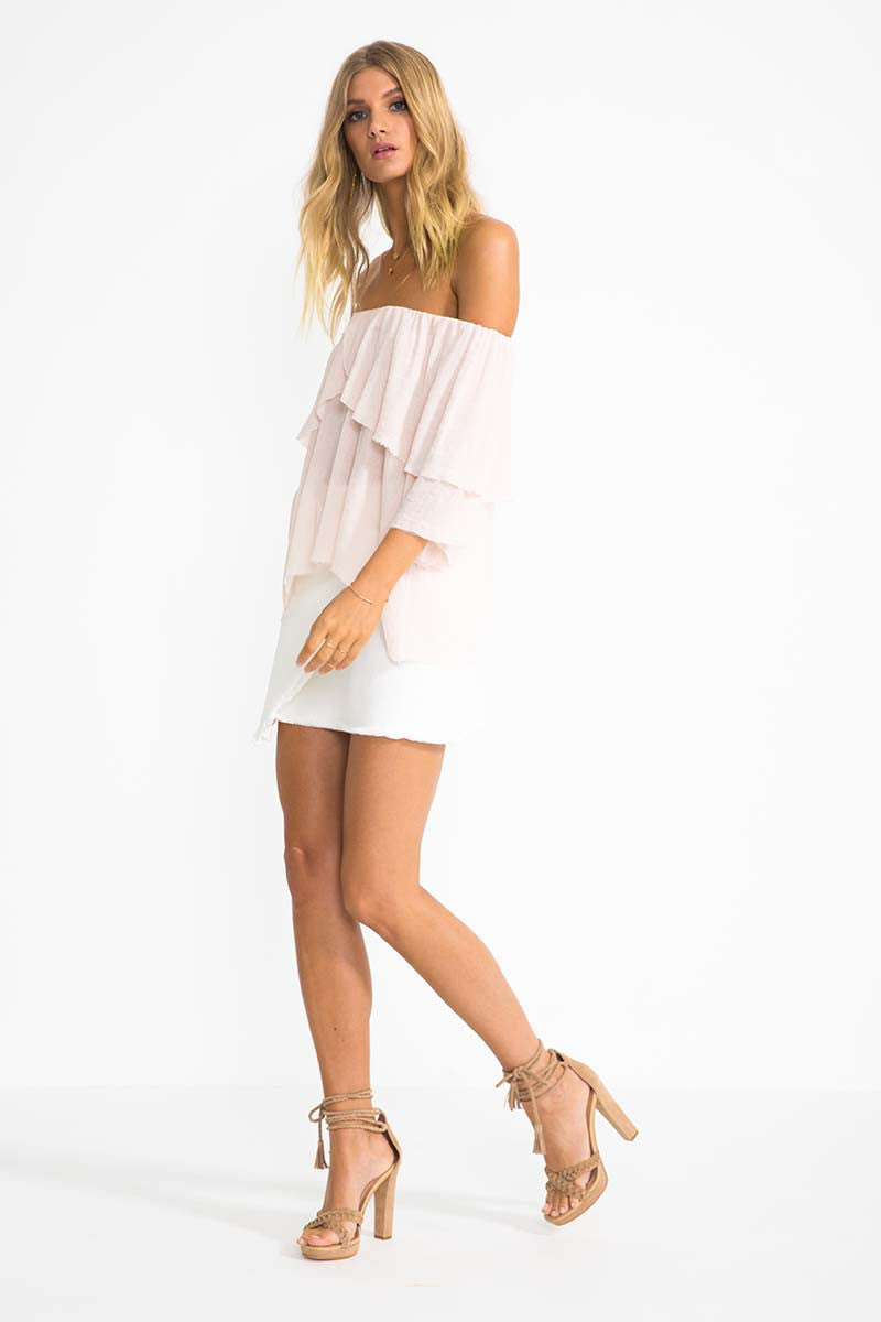 Suboo Perfect Day Off The Shoulder Top Blush