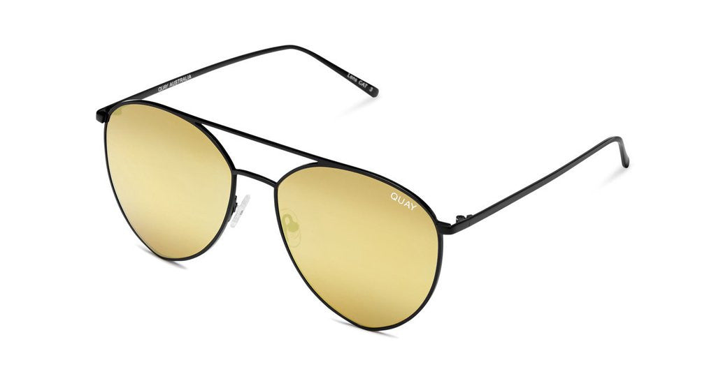Quay x Jasmine Indio Black/Gold Sunglasses