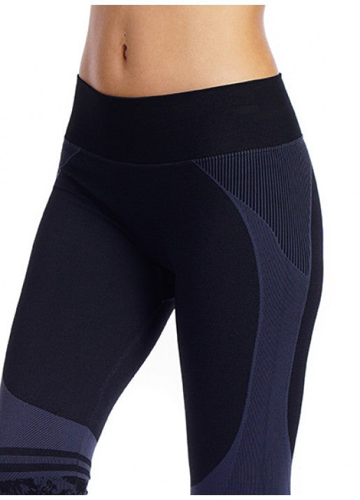 Nux Active Flower Legging Charcoal