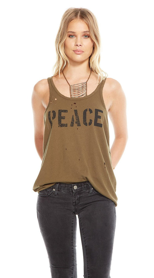 Chaser Peace Racerback Tank Top
