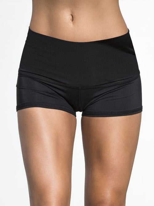 Teeki Solid Black Sun Shorts