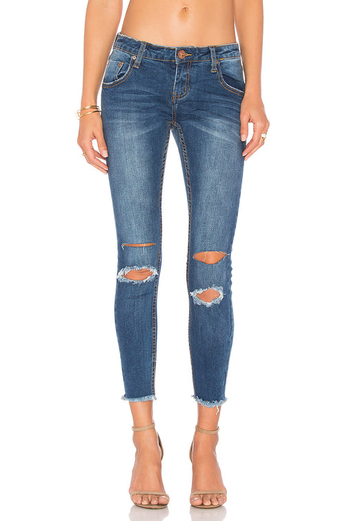 One Teaspoon Blue Bonnie Freebirds II Jeans