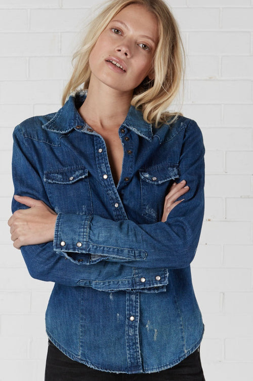 One Teaspoon Blue Cult Savannah Denim Shirt