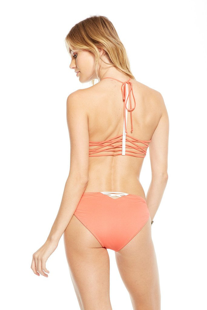Chaser Swim Criss Cross Peaches Top