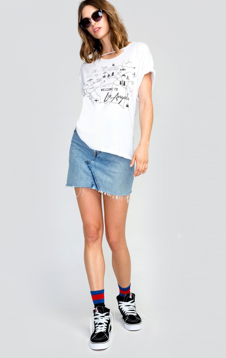 Wildfox Star Maps Rivo Tee White