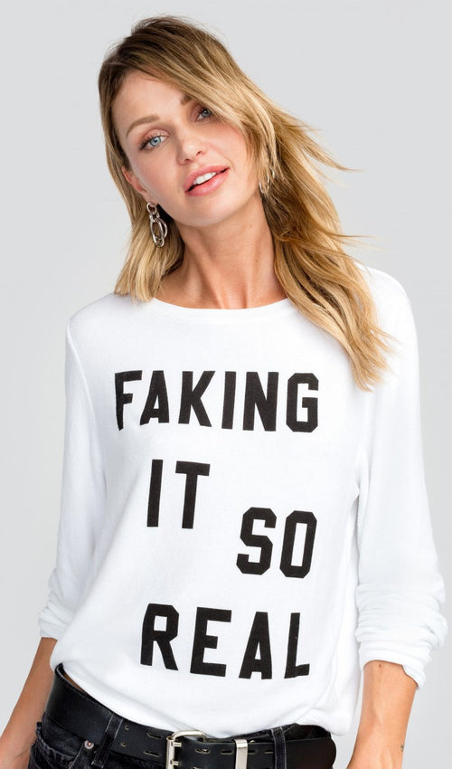 Wildfox Faking It Baggy Beach Jumper Sweater