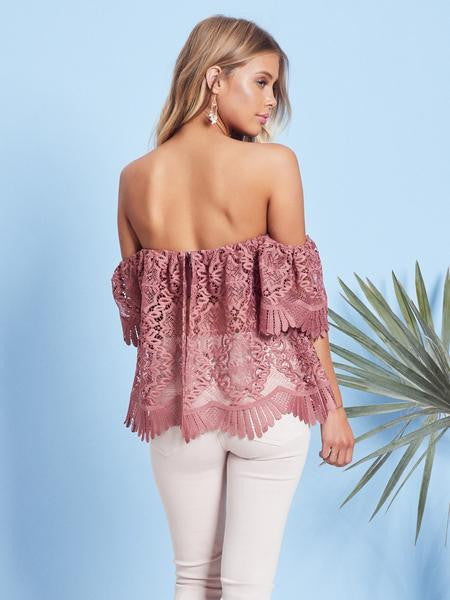 Lovers + Friends Life's A Beach Top Mauve
