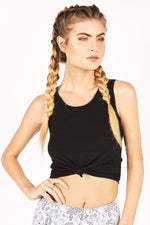 Onzie Knot Crop Top Midnight