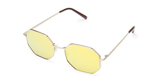 Quay On a Dime Gold Mirror Sunglasses