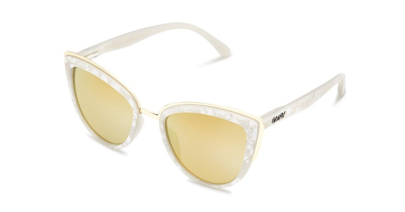 Quay My Girl Pearl Gold Sunglasses