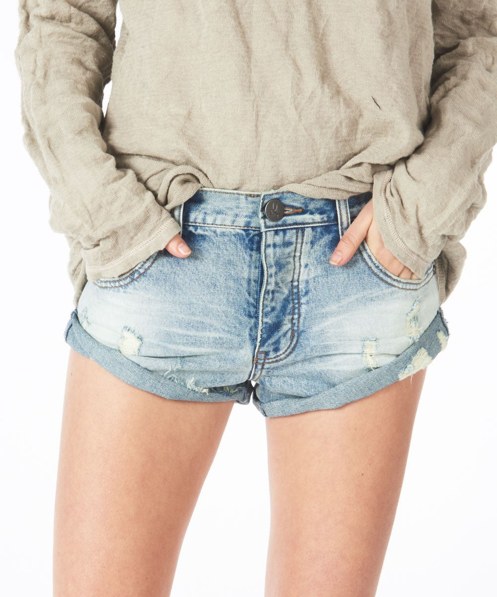 One Teaspoon Blue Hart Bandits Shorts
