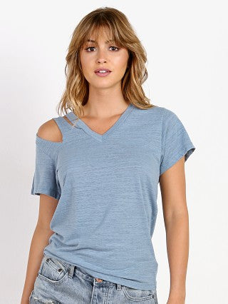 LNA Pine Cut Out Tee Blue Shadow