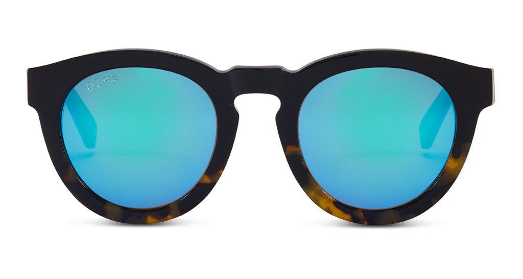 Diff Eyewear Dime II Blue Mirror Sunglasses