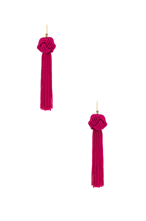 Vanessa Mooney The Natalia Tassel Earrings Pink