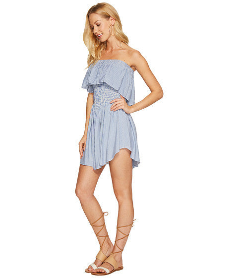 Blue Life Festival Romper Denim Stripe