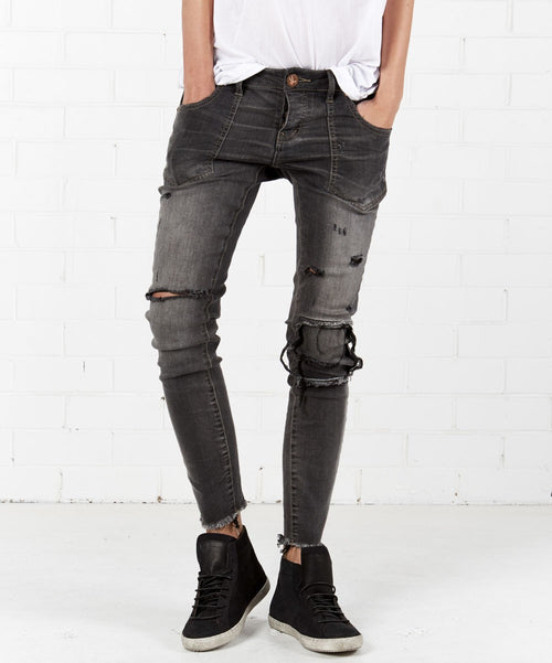 One Teaspoon Le Duke Freebirds II Distressed Jeans