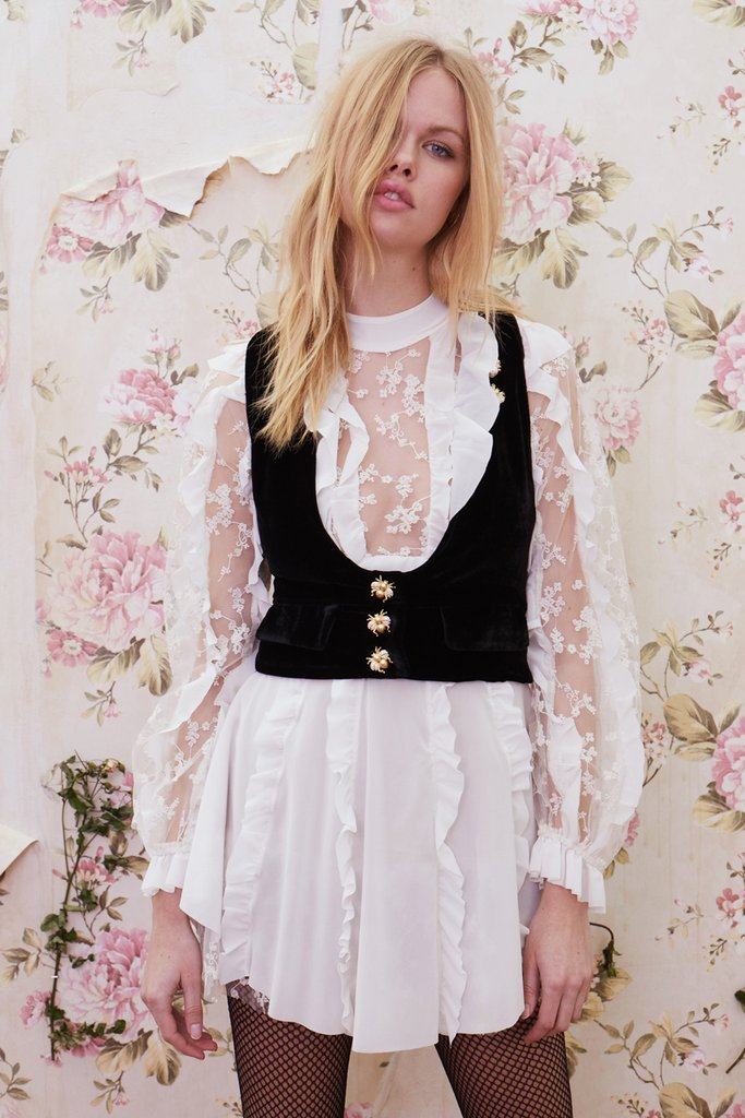 For Love and Lemons Beatrix Velvet Vest
