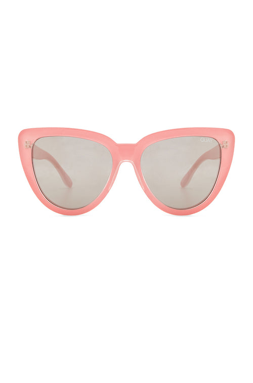 Quay Stray Cat Mirrored Cat Eye Peach Sunglasses