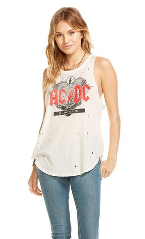 Chaser Hippie Heart Racer Tank Top