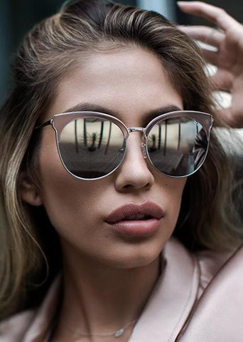 Quay High Key Mirror Silver/Blue Sunglasses