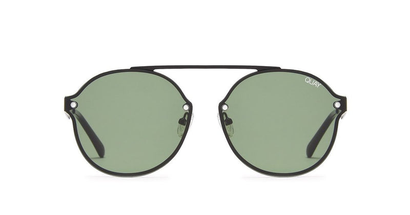 Quay Camden Heights Black Green Sunglasse