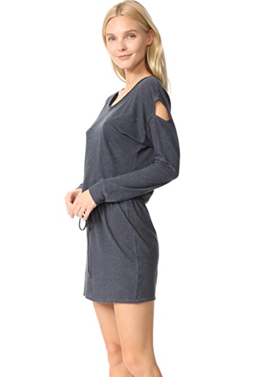 Lanston Drop Shoulder Cutout Mini Dress