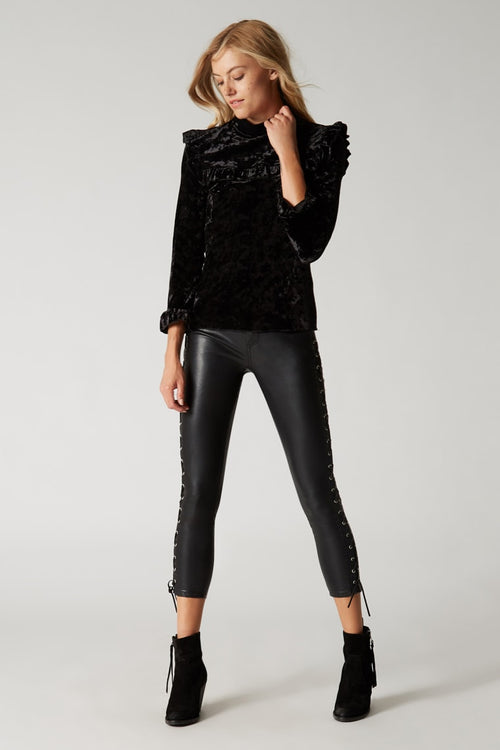 Blank NYC Spark It Velvet Shirt