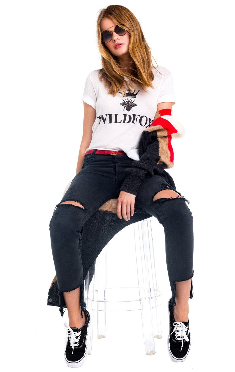 Wildfox Alchemy Destroyed Seer Tee Shirt